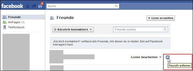 facebook anfragen löschen